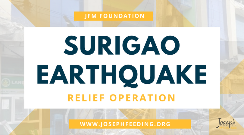 RELIEF OPERATION: SURIGAO EARTHQUAKE SURVIVORS