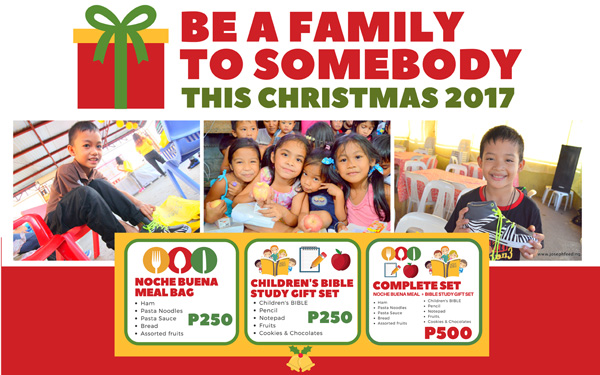 Be A Family To Somebody This Christmas 2017