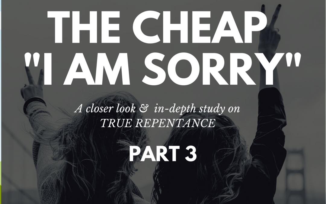 "Radio: The Cheap ""I Am Sorry"" Part 3"